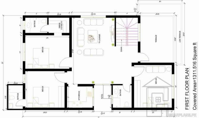 Drawing House Map Marla Gharplans