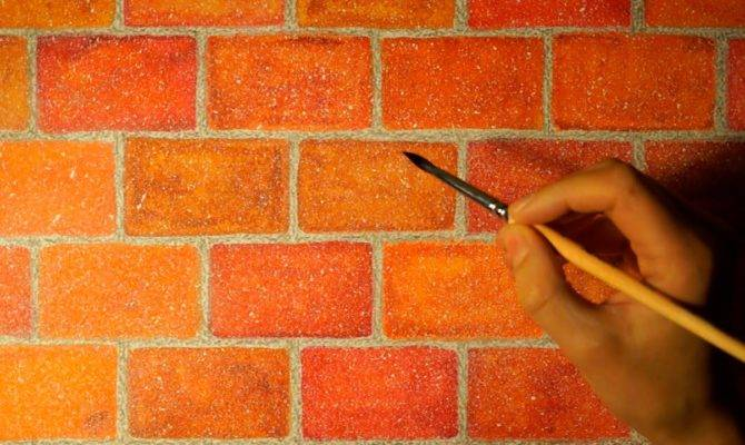 Drawing Realistic Brick Wall Watercolor Easy