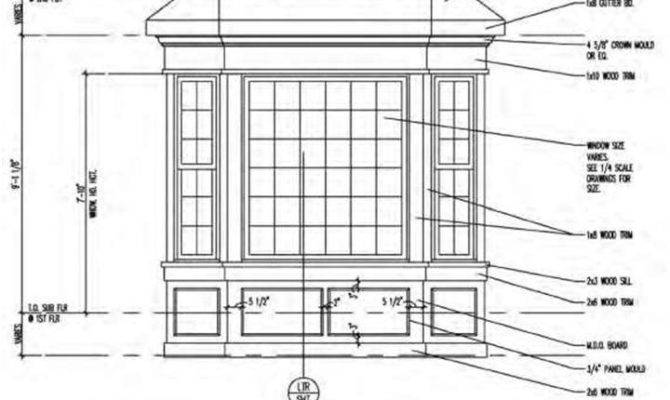 Drawing Residential Bay Window Showing Frompo