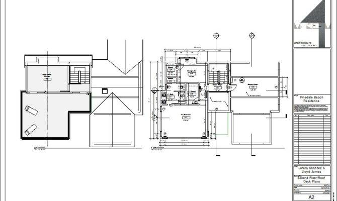Drawing Sheet Second Floor Roof Deck Plans