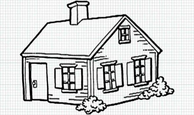 Drawn House Easy Pencil Color