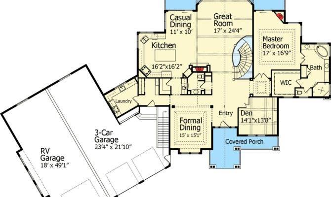 Dream Home Plan Garage Floor Master