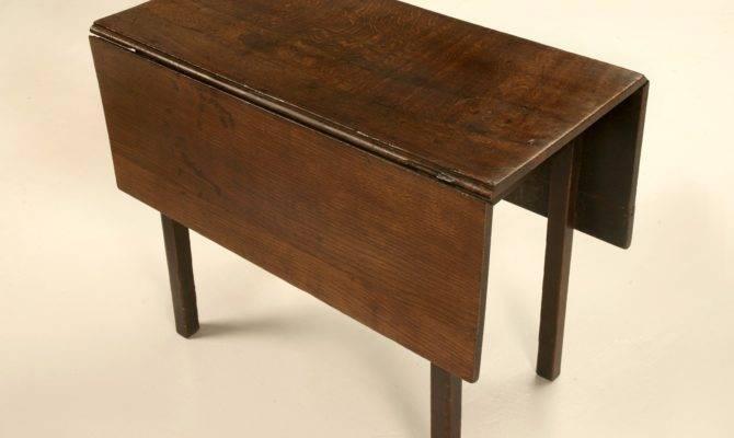 Drop Leaf Kitchen Table Using Oak Wood House Design Ideas