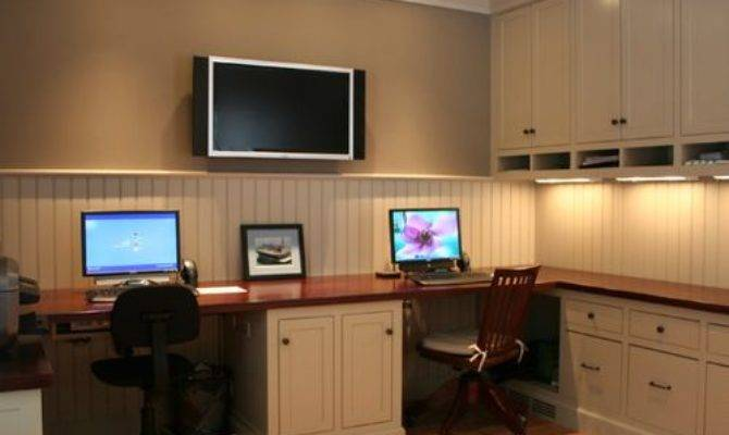 Dual Office Space Home Design Ideas Remodel