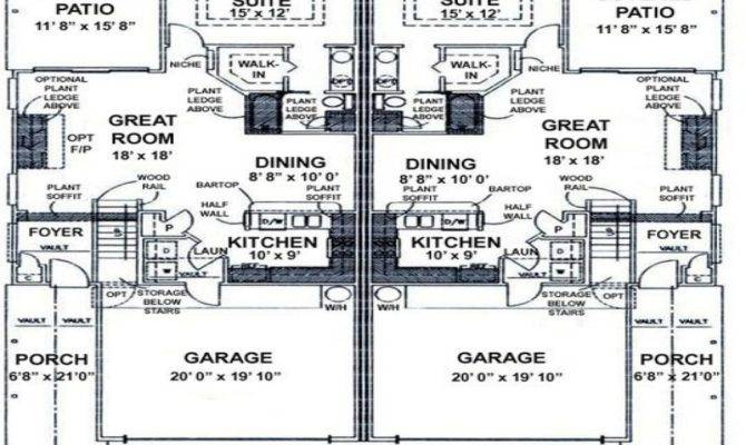 Duplex Beach House Plans Over Under