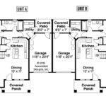 Duplex Floor Plans Garage Gurus