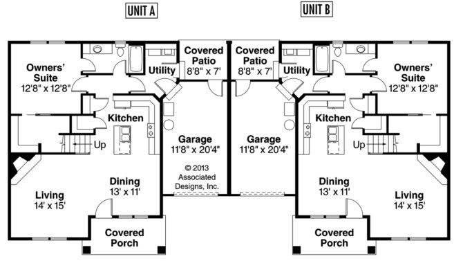 Duplex Floor Plans Garage Gurus