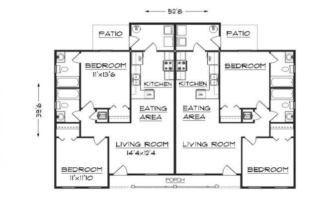 Duplex Floor Plans House Garage Plan