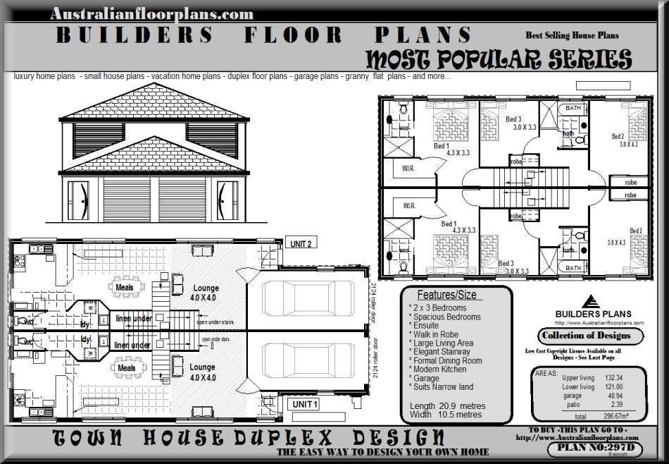Duplex Floor Plans House Plan Shop House Plans 51102