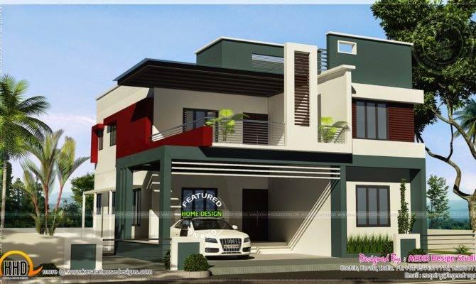 Duplex House Contemporary Style Kerala Home Design