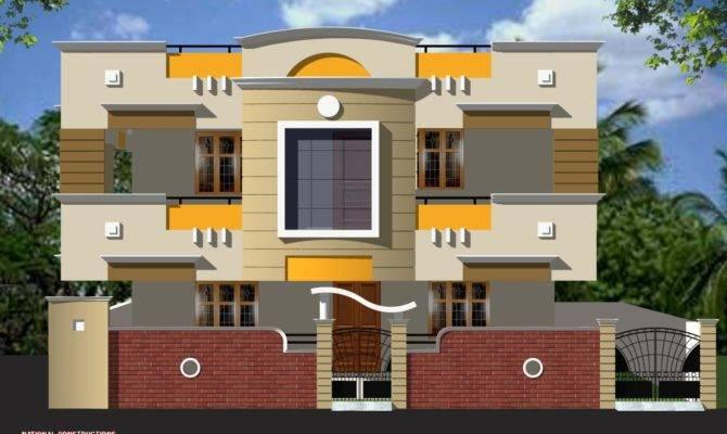 Duplex House Elevation Gharexpert