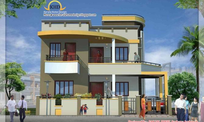 Duplex House Elevation Kerala Home Design Floor Plans