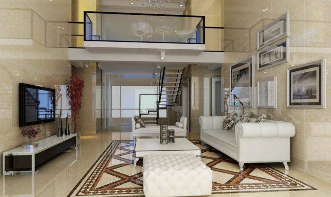 Duplex House Living Room Design Stairs