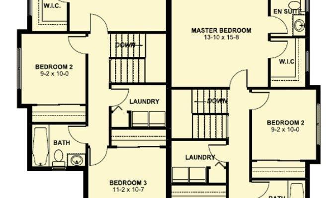 Duplex House Plan Small Narrow Lot