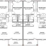 Duplex House Plans Floor Plan Bed Bath Pool