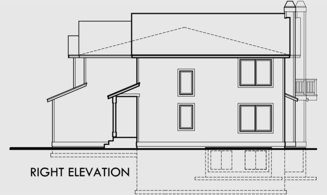 Duplex House Plans Plan Car Garage