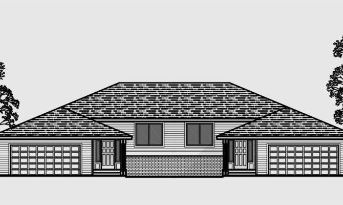 Duplex House Plans Split Level