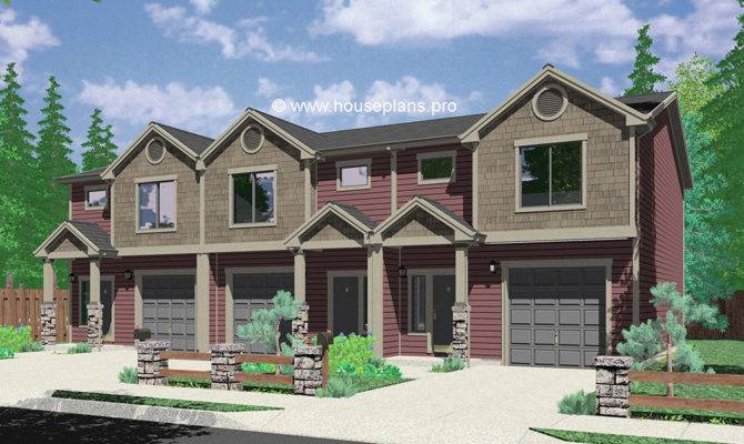 Duplex House Plans Two Unit Home Built Single