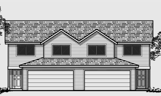 Duplex House Plans Wide