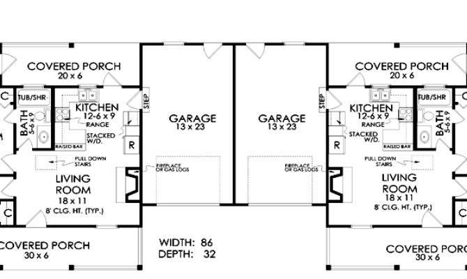 Duplex Plan Chp Coolhouseplans