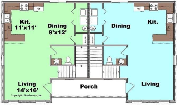 Duplex Plan Townhouse Apartment Plansource Inc