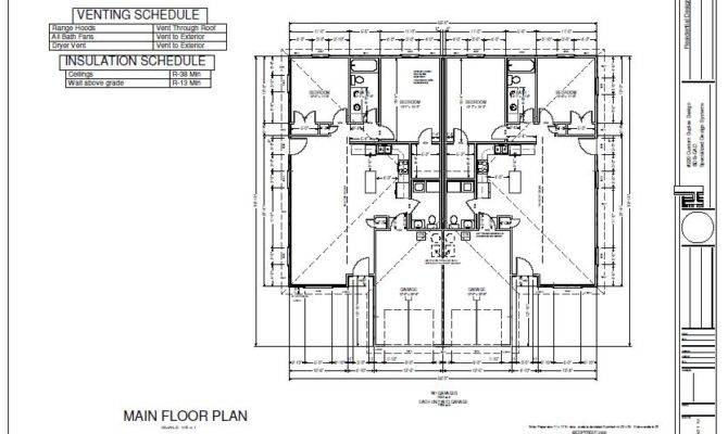 Duplex Plans Blueprints Construction Documents House Plan