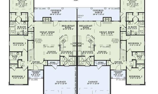 Duplex Townhome Plans House Multi Pinterest