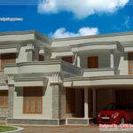 Duplex Villa Elevation Kerala Home Design