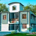 Duplex Villa Exterior Kerala Home Design Floor Plans