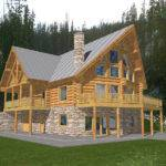 Durand Creek Frame Log Home Plan House Plans