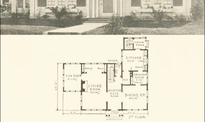 Dutch Colonial Revival House Plan Southern