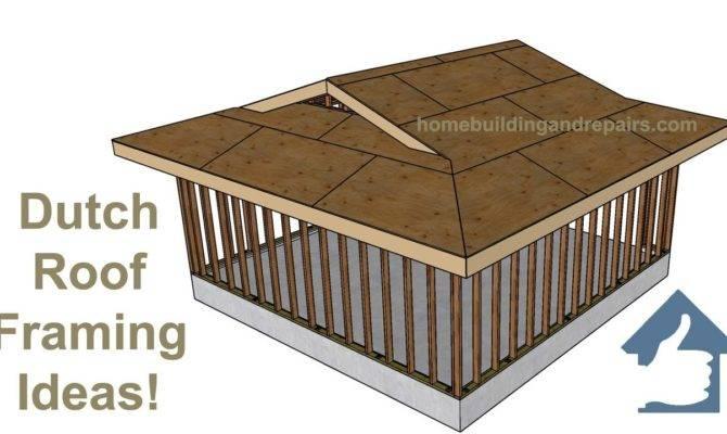 Dutch Roof Framing Ideas Two Car Garage Construction