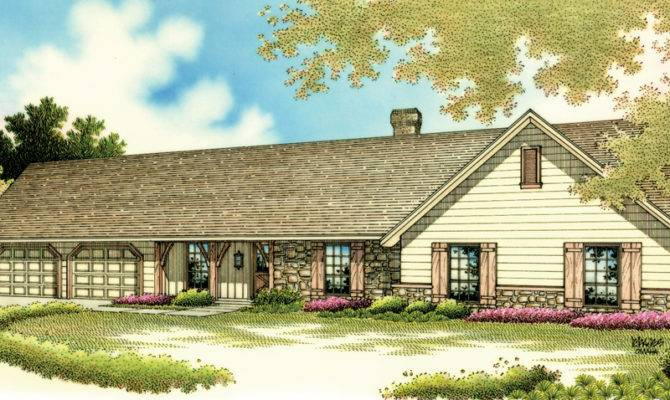 Eagle Peak Rustic Ranch Home Plan House Plans More