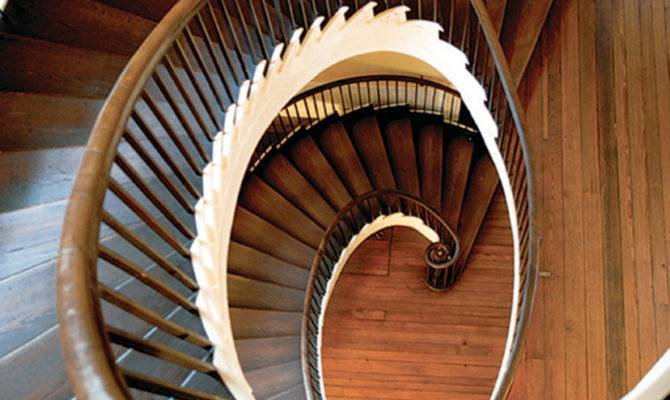 Early Staircases Winder Box Spiral Old House