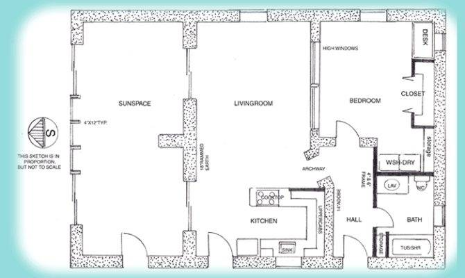Earth House Plan Rammed Studio Homes