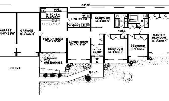 Earth Sheltered Homes Plans Floor