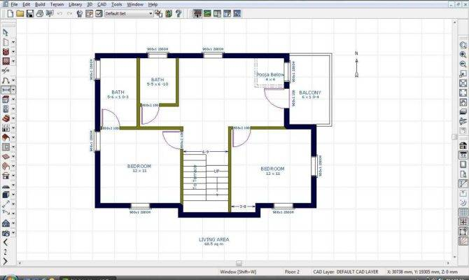 East Face Bhk House Plan Kerala Collection Also
