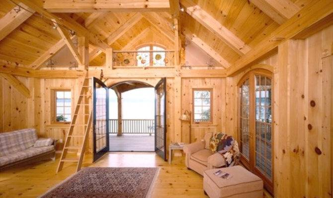 Eastern White Pine Beach House Woodhouse Timber Frame