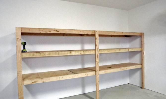 Easy Fast Diy Garage Basement Shelving Tote