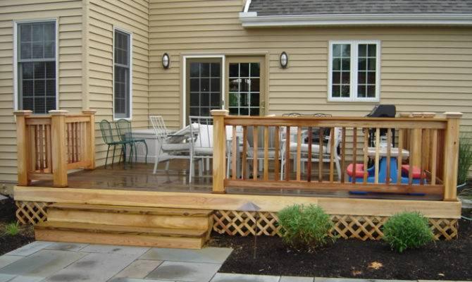 Easy Raised Deck Ideas Contoured Patio Design