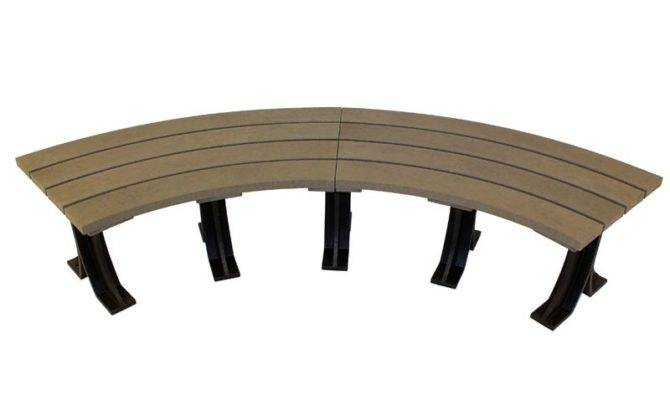 Eco Curved Park Bench