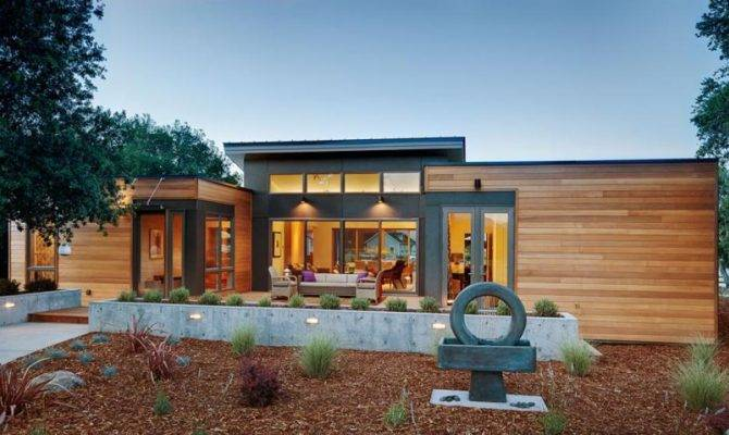 Eco Friendly Prefab Homes Designs Garden Pathways Concrete