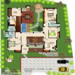 Eco Friendly Single Floor Kerala Villa Home