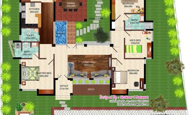 Eco Friendly Single Floor Kerala Villa House Design Plans