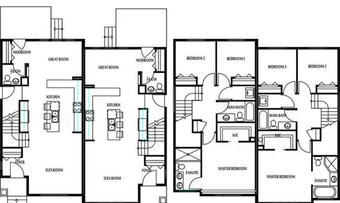 Edmonton Duplexes Semi Detached Homes Blueprints