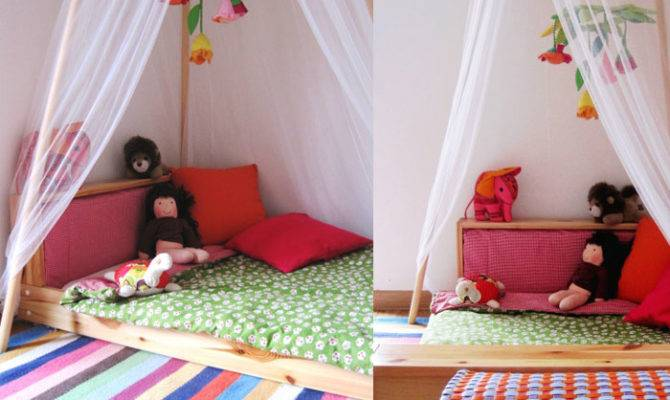 Education Ours Two Beautiful Floor Bed Montessori Beds