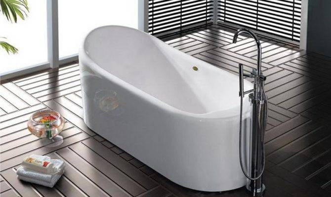 Efficient Bathroom Space Saving Narrow Bathtubs