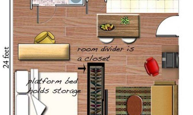 Efficiently Arrange Furniture Studio Apartment