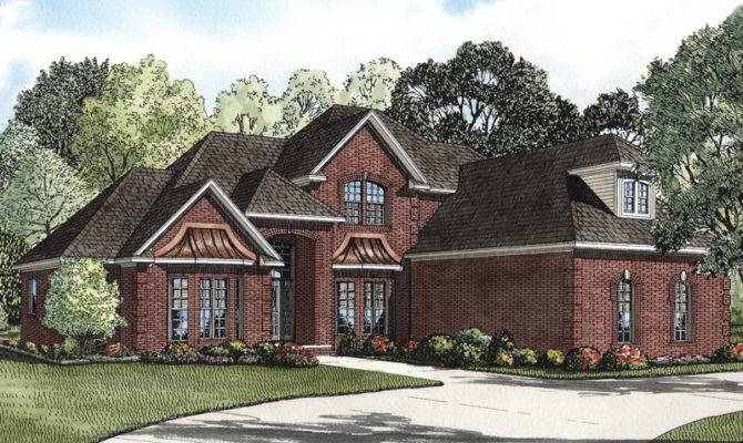 Eldred Luxury Brick Home Plan House Plans More