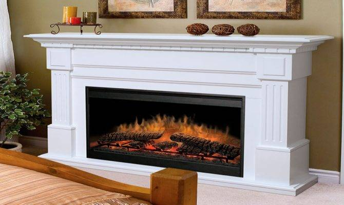 Electric Infrared Fireplace Heaters White